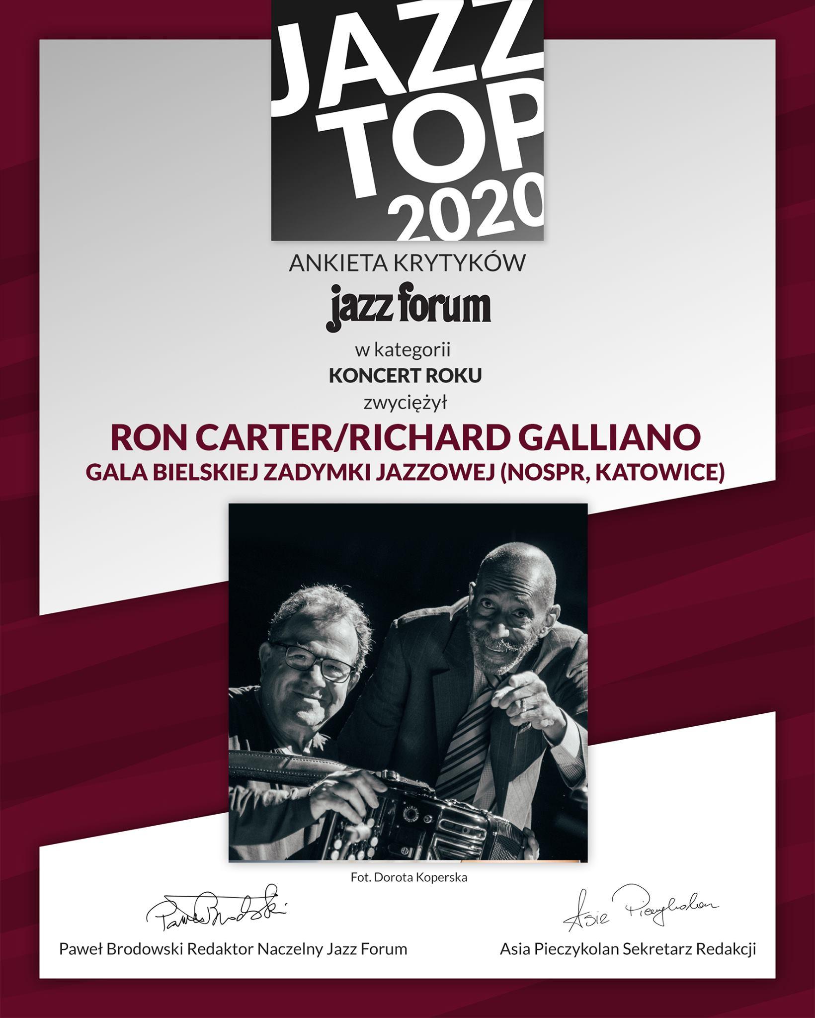 Dyplom Jazz Top 2020 dla Koncertu Roku