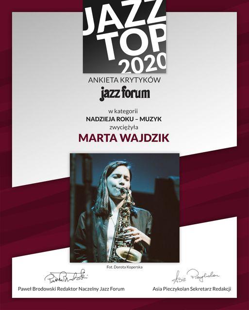 Jazz Top 2020 dla Nadzieji Roku